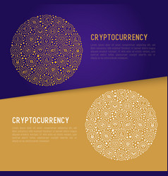 cryptocurrency concept in circle vector image