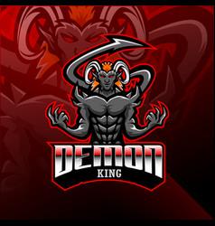 demon king esport mascot logo vector image