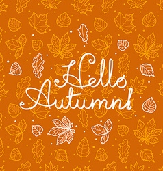 Different leaves silhouettes autumn concept vector