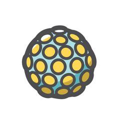 disco light ball icon cartoon vector image