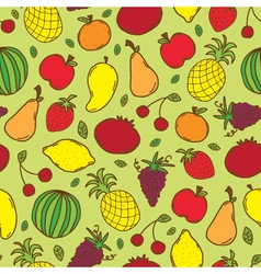 Doodle fruits seamless vector