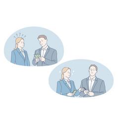 Earning money profit salary concept vector