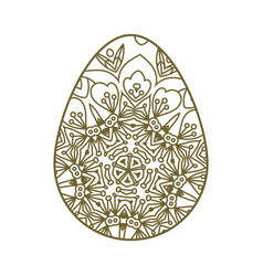 easter egg laser cutting vector image