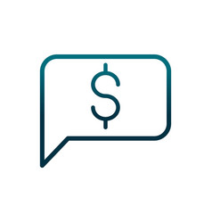 Economy business speech bubble money gradient line vector