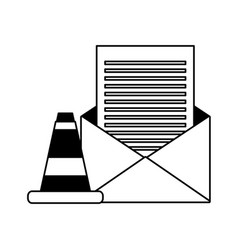 email message warning data vector image