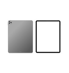 empty screen realistic new tablet mockup design vector image