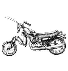 Fantasy insect motorcycle vector