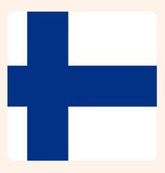 finn square flag button social media vector image