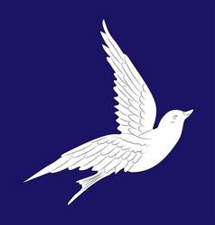 Flying white dove vector