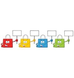 Four Shopping Bags Cartoon vector