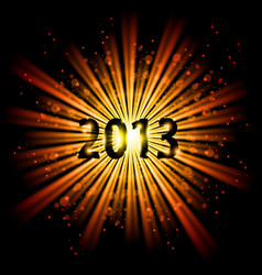 Gold abstract happy new year twenty thirteen vector