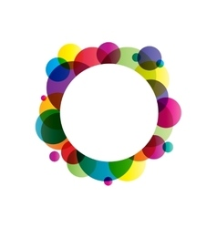 Gradient circles frame vector