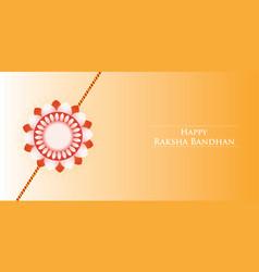 Happy raksha bandhan festival banner free vector