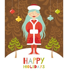 holiday lady vector image vector image