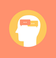 human mind icon communication concept flat style vector image