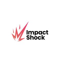 Impact shock meteor logo icon vector