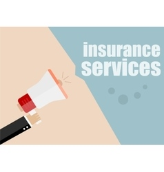 insurance services Megaphone Flat design vector image