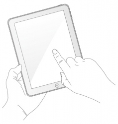 Ipad style tablet computer vector
