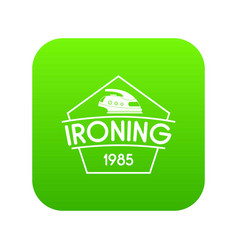 Ironing icon green vector