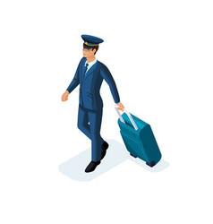 isometric man an international airline employee vector image
