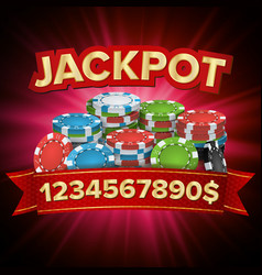 Jackpot big win bright casino banner for vector