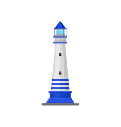 Lighthouse with a triangular roof vector