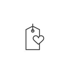 love tag icon vector image
