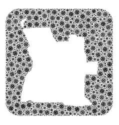 Map angola - flu virus mosaic with hole vector