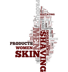 men s skin care text background word cloud concept vector image