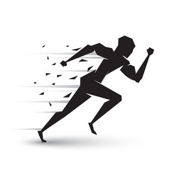 Motion running man vector