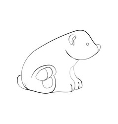 polar bear coloring page vector image