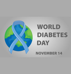Poster design for world diabetes day vector