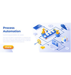 process automation - banner layout template vector image