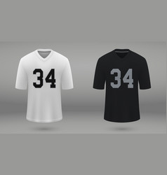 Realistic american football jersey vector