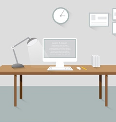 room workplace creative office design elements vector image