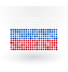 russia flag made up of dots vector image