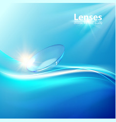 Science with contact lenses sign vector