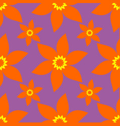 seamless abstract floral pattern modern vector image