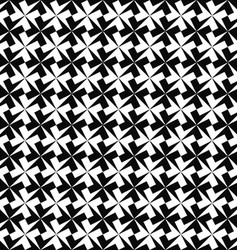 Seamless monochrome geometric pattern background vector