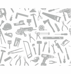 seamless pattern tools silhouette vector image