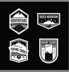 set of mountain badge or emblem with transparent b vector image