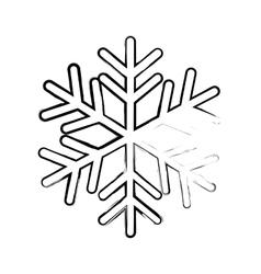 Single snowflake icon image vector