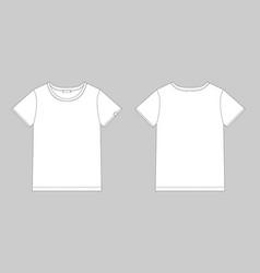 Technical sketch unisex t shirt t-shirt design vector