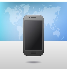 template with touchscreen mobile phone device vector image