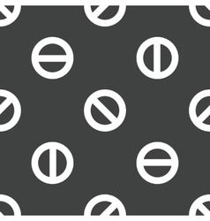 The No symbol pattern vector image