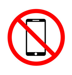 The use of a mobile phone is prohibited vector