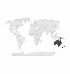 the world map vector image