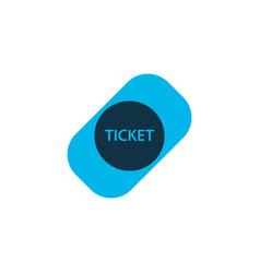 ticket icon colored symbol premium quality vector image