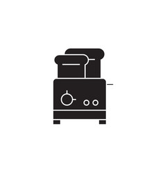toaster black concept icon toaster flat vector image