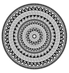 Tribal geometric mandala design polynesian vector